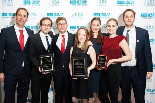 JESSUP Nemzetközi Jogi Perbeszédverseny ELTE győztes csapat