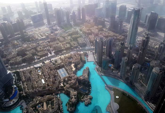 Dubaj - 360 fokos kilátás a Burj Khalifából