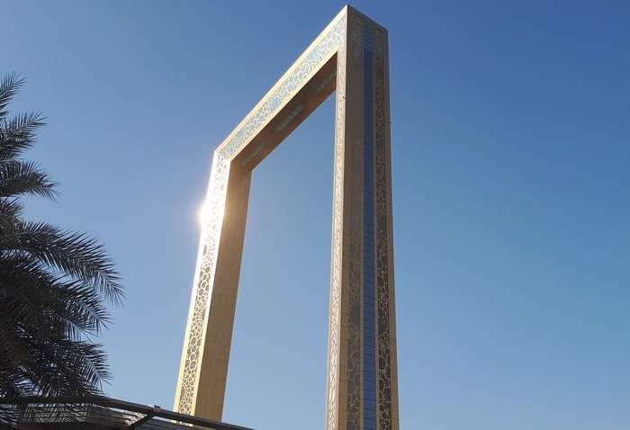 Dubaj - Dubai Frame, a város hatalmas aranykerete