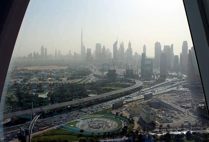 Dubaj - Dubai Frame, kilátás