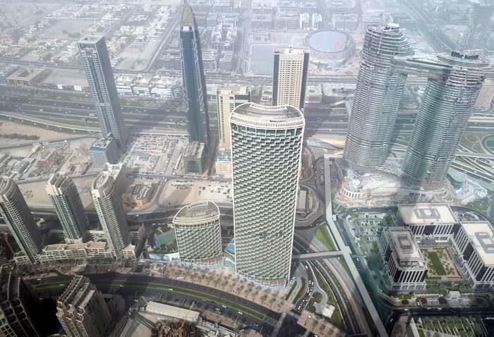 Dubaj - kilátás a Burj Khalifából