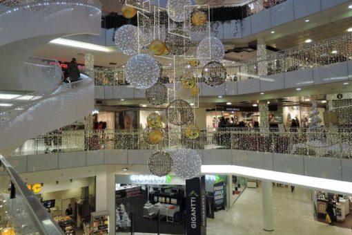 Karácsony, ünnep, bevásárlóközpont