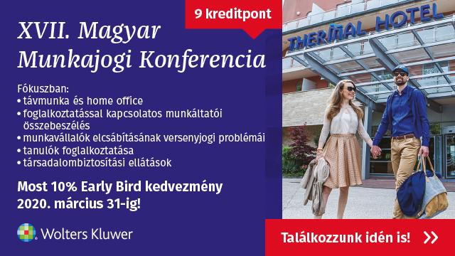 XVII. Magyar Munkajogi Konferencia