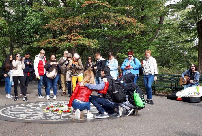 New York, Central Park: a John Lennon emlékére készült Imagine-mozaik