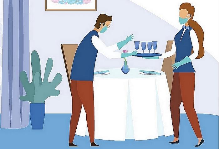 Koronavírus, nyaralás, pincérek, vendéglátás