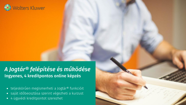 Ingyenes 4 kreditpontos online képzés a Jogtárról