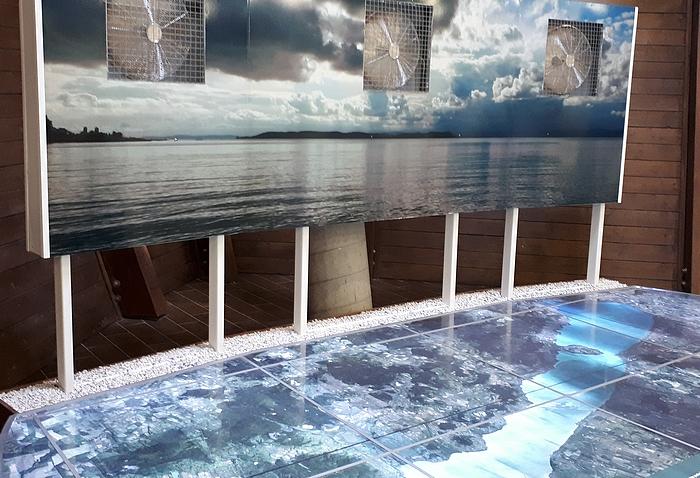 Balatonföldvári hajózástörténeti múzeum – szélerősség-bemutató ventilátorokkal