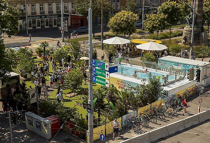 Bécs – pop-up tér