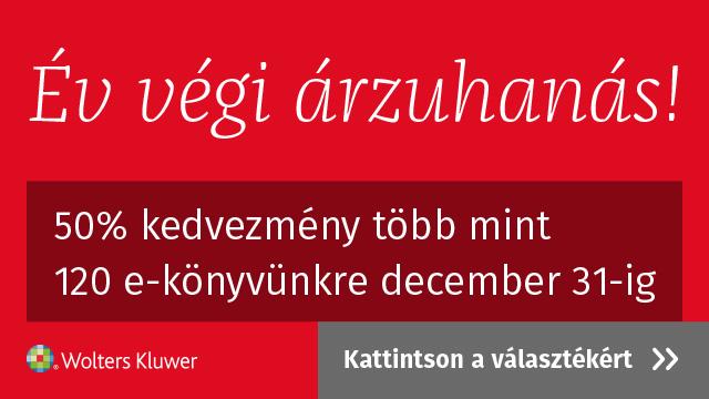 Év végi árzuhanás, 50 % kedvezmény több mint 120 e-könyvünkre december 31-ig