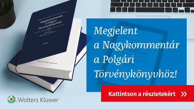 Megjelent a Nagykommentár a Polgári Törvénykönyvhöz