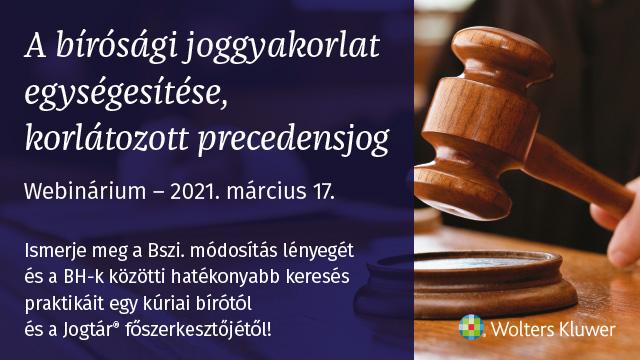 Korlátozott precedensjog webinárium