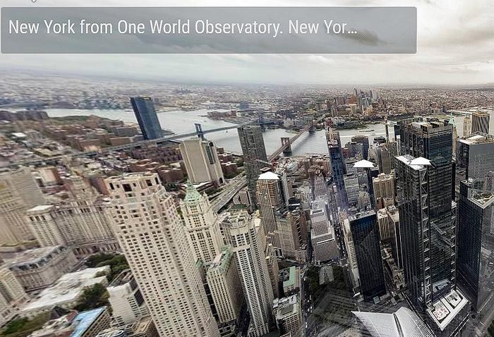 360cities oldala – Kilátás Manhattanre a One World kilátójából