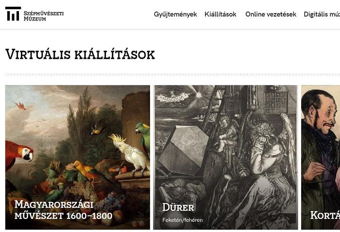 Szépművészeti Múzeum digitális kiállításai