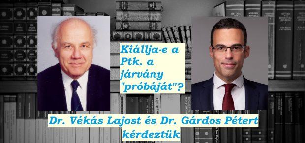 """Kiállja-e a Ptk. a járvány """"próbáját""""? – Dr. Vékás Lajost és Dr. Gárdos Pétert kérdeztük"""