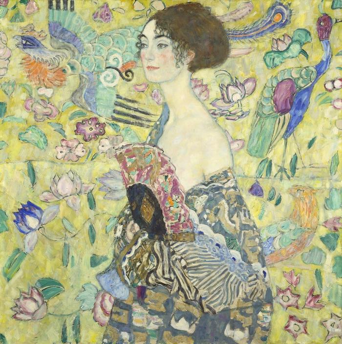 Gustav Klimt – Nő legyezővel c. képe