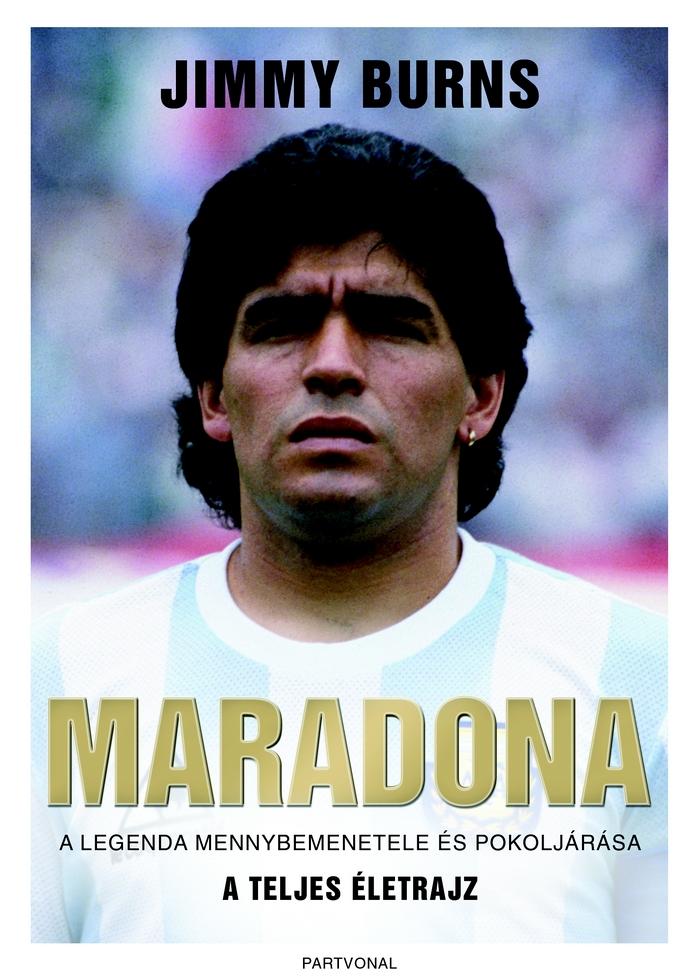 Diego Maradona – Maradona c. életrajzi kötet borítója