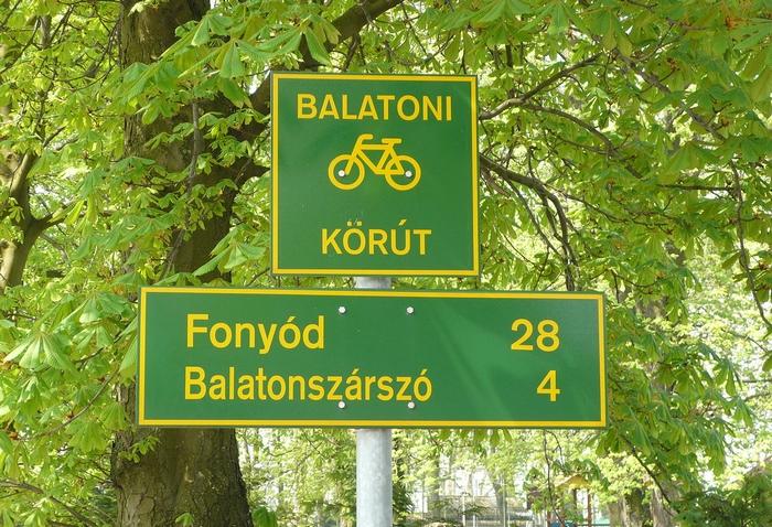 Kerékpárút – Balatoni kerékpáros tábla
