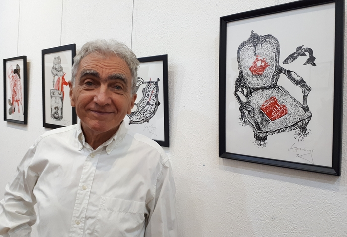 Szerényi Gábor grafikusművész kiállítása a Duna Palotában – Szerényi Gábor
