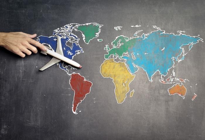 Üzleti utazások – térkép